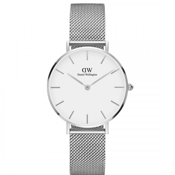 Daniel Wellington Damenuhr 32 Classic Petite Sterling white