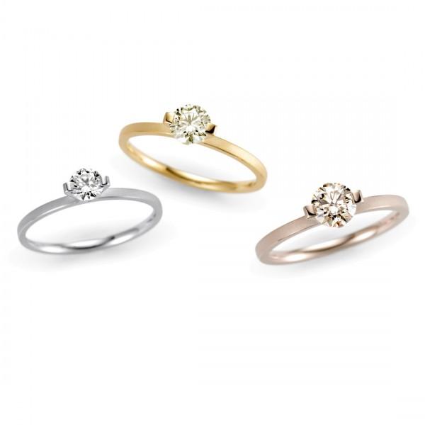 Niessing Verlobungsringe PRINCESS in verschiedenen Größen und Farben