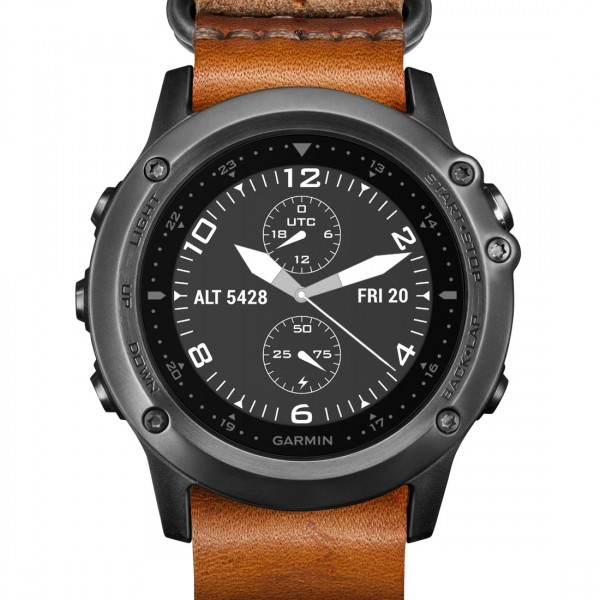 Garmin Fenix 3 Grey Leatherstrap