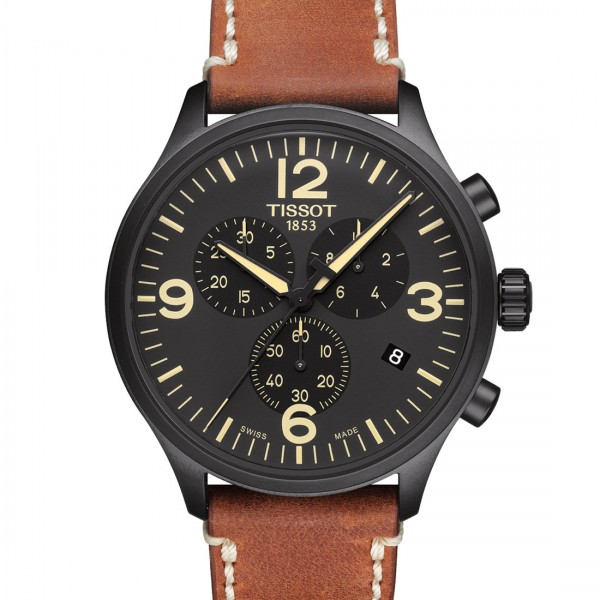 TISSOT CHRONO XL black-beige