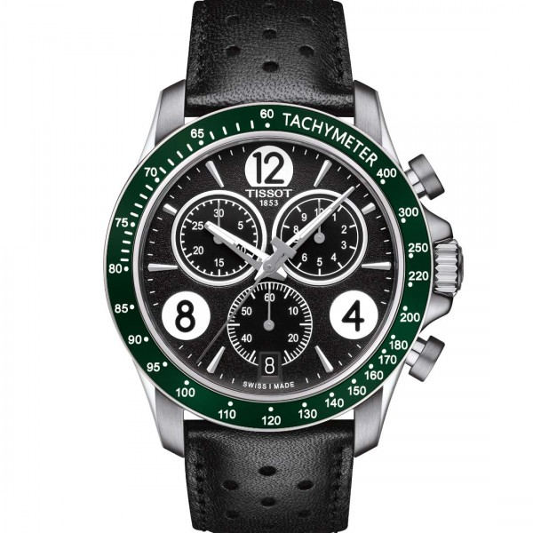 TISSOT V8 CHRONO Green Leather